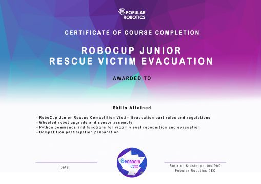 RoboCup Junior - Rescue Line Following Certificate